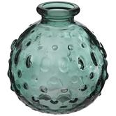 Round Hobnail Glass Vase