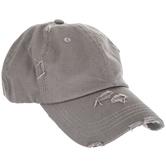 Light Gray Ponytail Baseball Cap