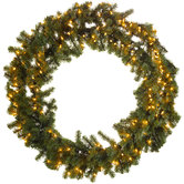 Light Up Canadian Pine Wreath