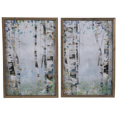 Abstract Forest Wood Wall Decor Set