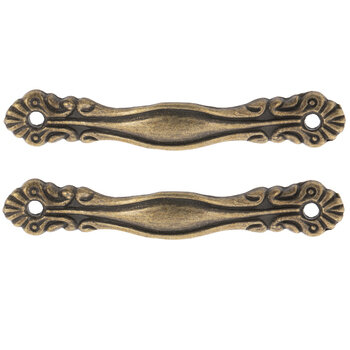 Antique Bronze Plated Metal Handles