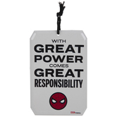 Spider-Man Great Responsibility Metal Sign