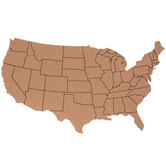 United States Map Corkboard