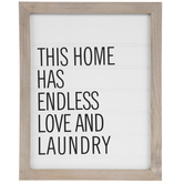 Endless Love & Laundry Wood Wall Decor