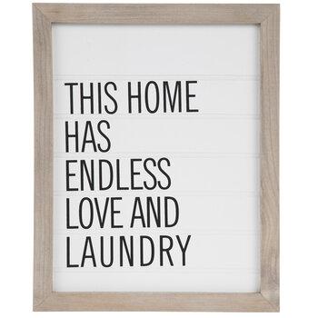 Endless Love & Laundry Wood Wall Decor