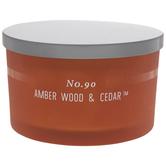 No. 90 Amber Wood & Cedar Jar Candle