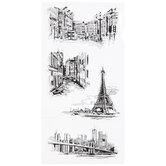 Travel Sketches Clear Stamps