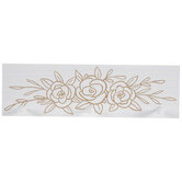 White Floral Wood Wall Decor With Hooks