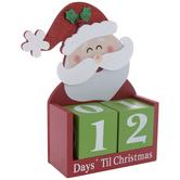 Santa Days 'Til Christmas Countdown Wood Decor