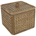 Rectangle Rattan Box With Lid - Large