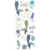 Mermaid Tails & Quotes Foil Stickers