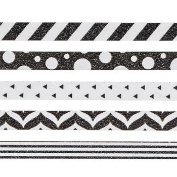Black & White Skinny Washi Tape