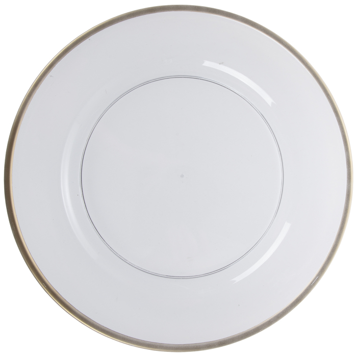 Shop Transparent Plate Charger With Gold Trim from Hobby Lobby on Openhaus