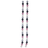 Pink, Black & White Glass Pearl Bead Strands