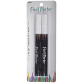 White Medium Tip Paint Markers - 2 Piece Set