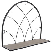 Black Cathedral Arch Metal Wall Shelf