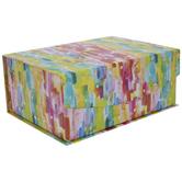 Rainbow & Gold Foil Dot Box