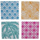 Tropical Print Wood Coasters