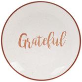 White & Orange Grateful Plate