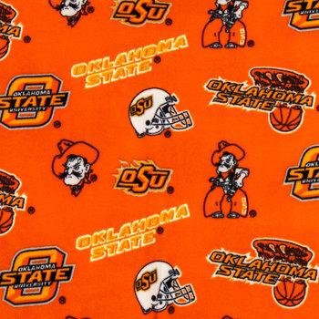Oklahoma State Allover Collegiate Fleece Fabric