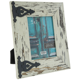 "Distressed White Hinged Frame - 5"" x 7"""