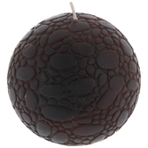 Deep Brown Mosaic Ball Candle