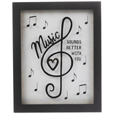 Music Better With You Framed Wall Decor