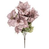 Sequin & Glitter Poinsettia Bush