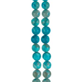 Turquoise Dyed Jasper Round Bead Strands