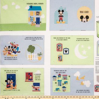 Mickey Soft Book Cotton Fabric