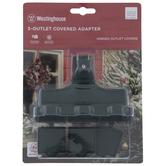 3-Outlet Outdoor Covered Adapter