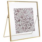 Burgundy Tile Framed Decor