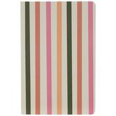 Pink, Peach & Green Striped Journal