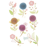 Small Rosette Flower Stickers