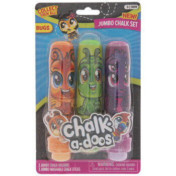 Bugs Chalk-A-Doos Chalk Holders & Chalk