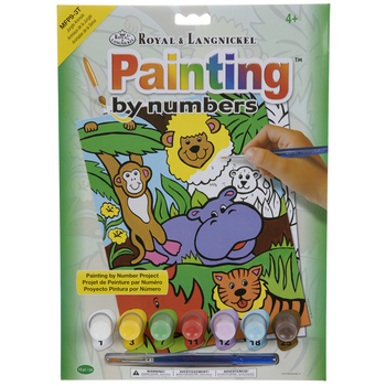Jungle Animals Paint By Number Kit