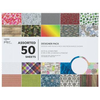 "Assorted Designer Paper Pack - 8 1/2"" x 11"""