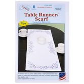 Lavender Flowers Embroidery Table Runner Kit