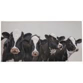 Four Cows Canvas Wall Decor