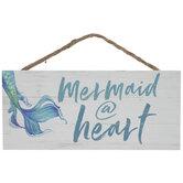 Mermaid At Heart Wood Wall Decor