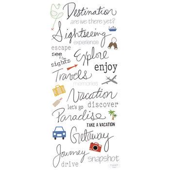 Travel Handwritten Stickers