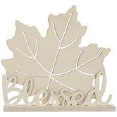 Blessed Leaf Cutout Wood Decor