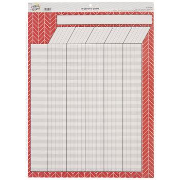 Red Herringbone Incentive Chart