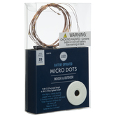 Warm White On Copper Wire Micro Dot LED Lights