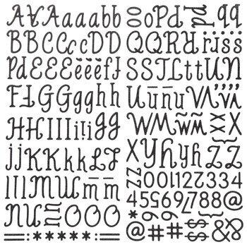 MozzaRella Alphabet Stickers