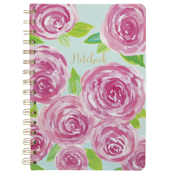 Pink & Blue Roses Notebook