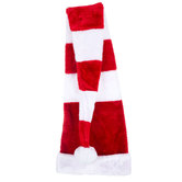 Red & White Striped Plush Hat With Long Tail