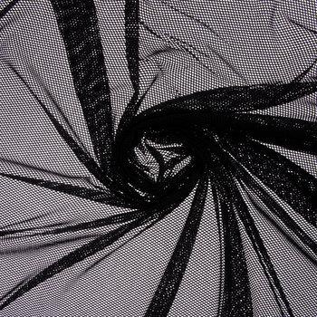 Black Small Cargo Mesh Fabric