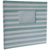 "Turquoise & White Striped Post Bound Scrapbook Album - 12"" x 12"""