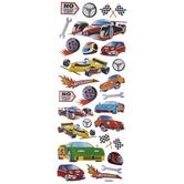 Race Car Glitter Stickers